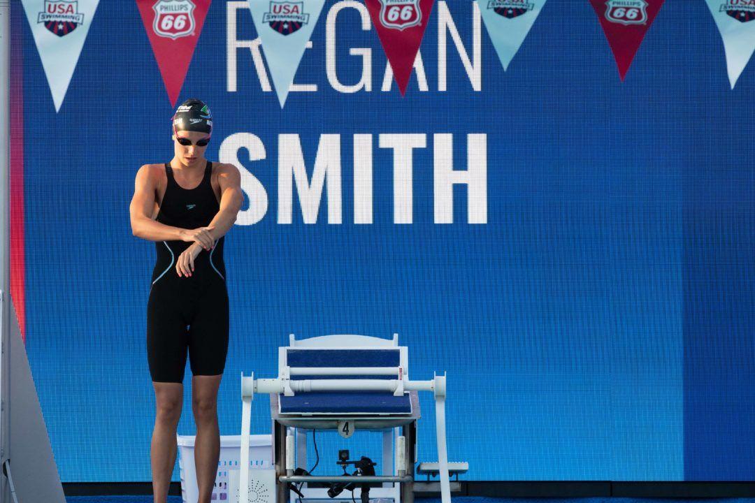 Regan Smith Drops 49.74 100 Back in Prelims to Crush 17-18 NAG Record