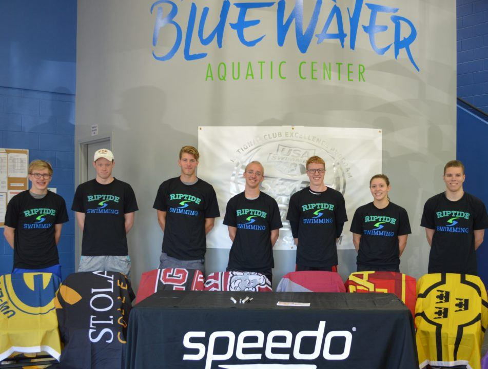 Riptide Swim Team To Send 8 To College Programs This Fall