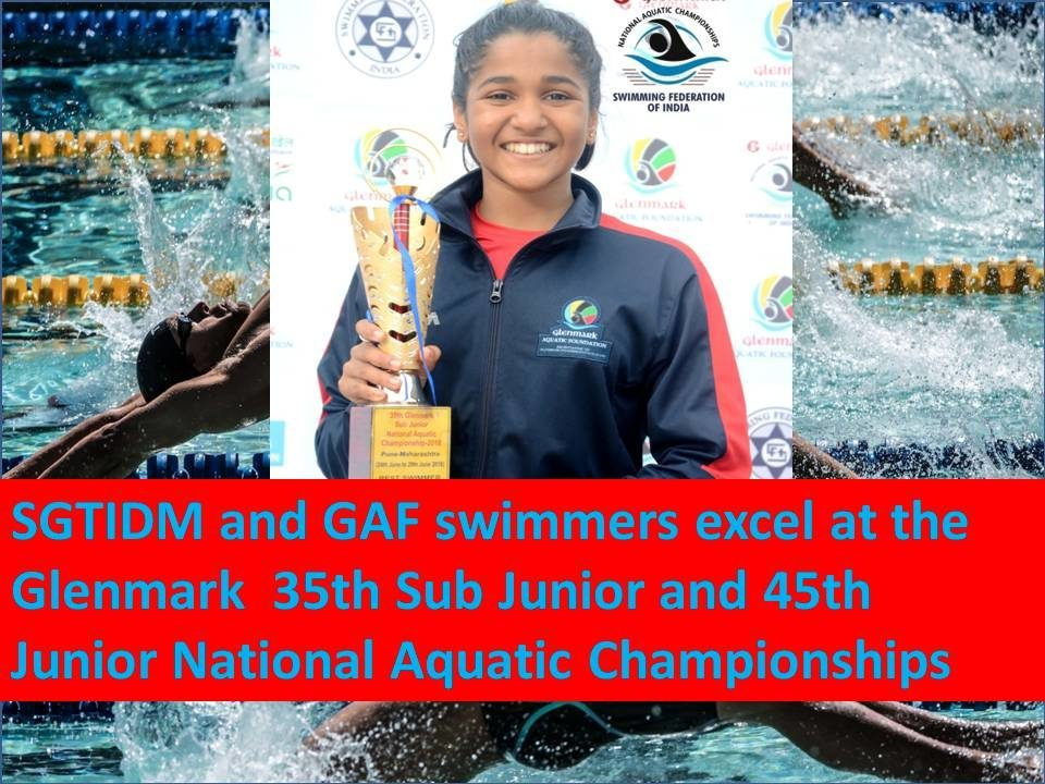 SGTIDM, GAF Swimmers Excel at Glenmark National Aquatic Championships