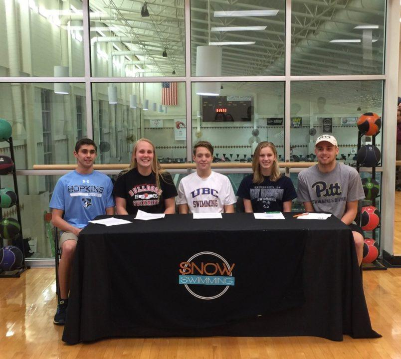 SNOW Swimming Sending 7 Seniors to Collegiate Programs
