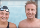 USMS World Record Holder Steve West Trains with his Daughter (VIDEO)