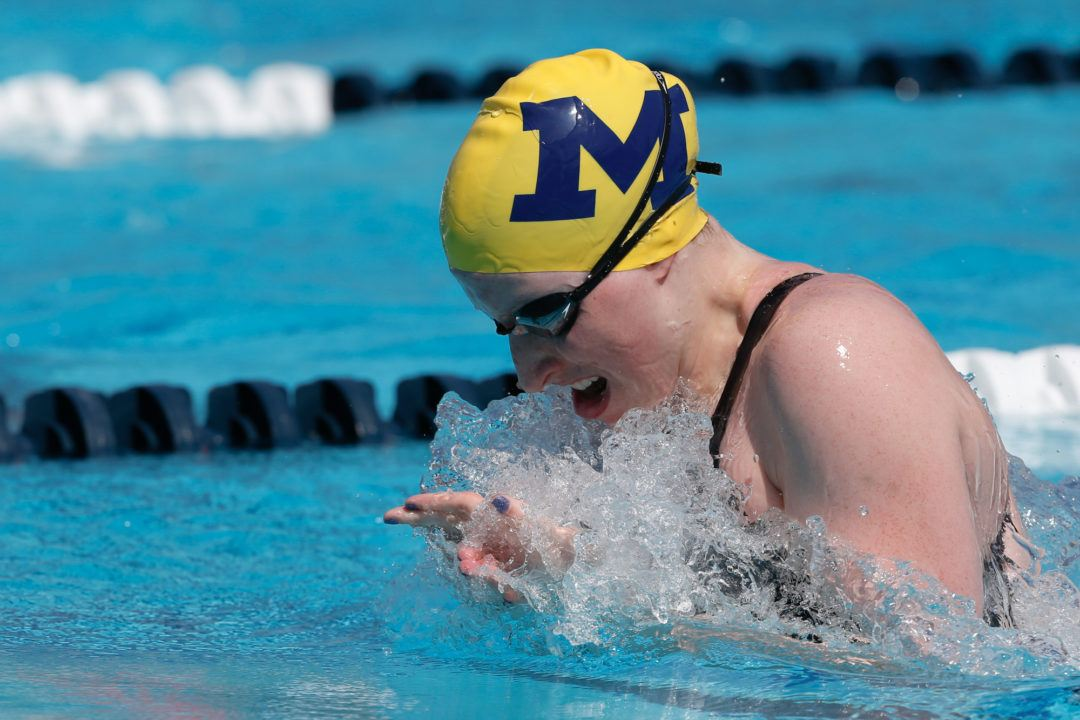 Michigan Women Lead Swimulator Rankings