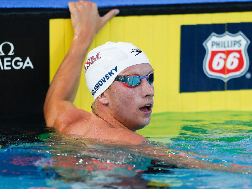 Wilimovsky Swims 1500 After Already Qualifying for Pan Pac Team (Video)