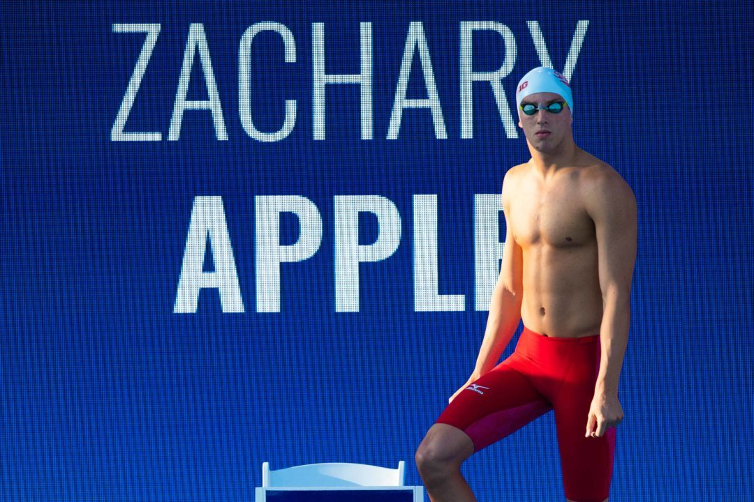 Zach Apple Moves to #7 All-Time with 47.79 100 Free Relay Leadoff at WUGs
