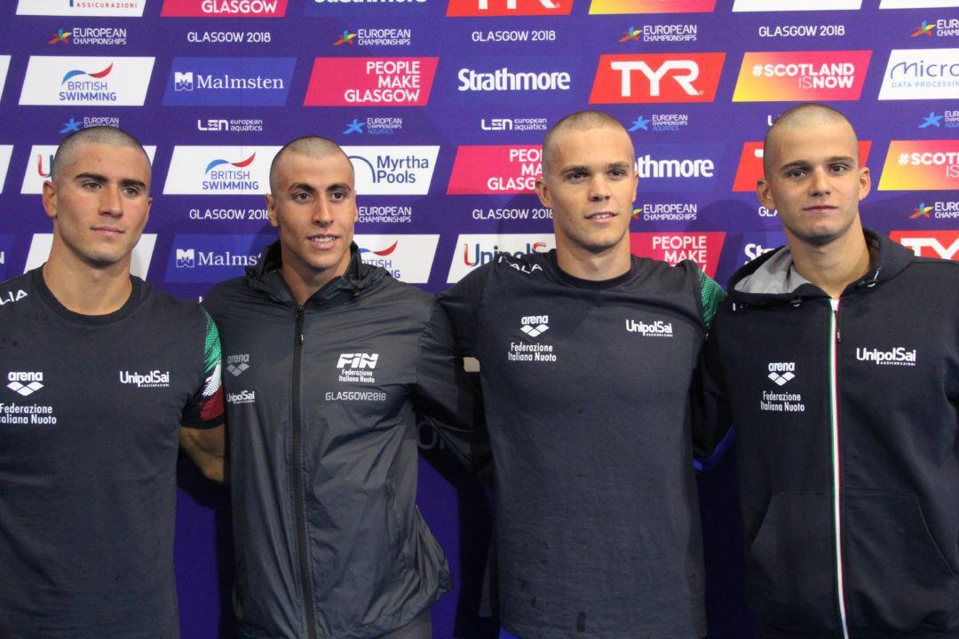 Europei 2018: Preliminari Day3 – 4×200 sl Maschile Vola In Finale