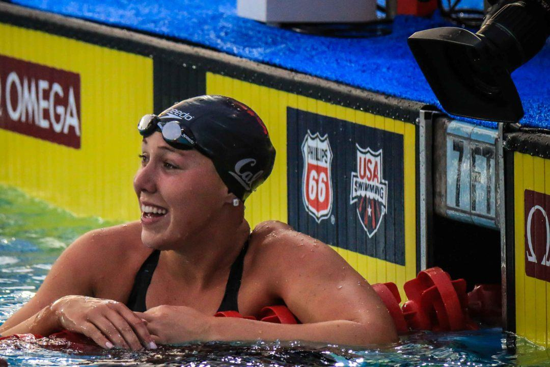 Abbey Weitzeil Breaks Simone Manuel's Pac-12 Record in 50 Free