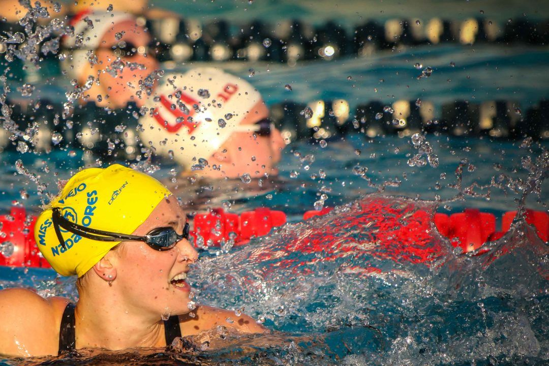 "Annie Lazor: ""We did 8 200's Breaststroke for time on Monday"" (Video)"
