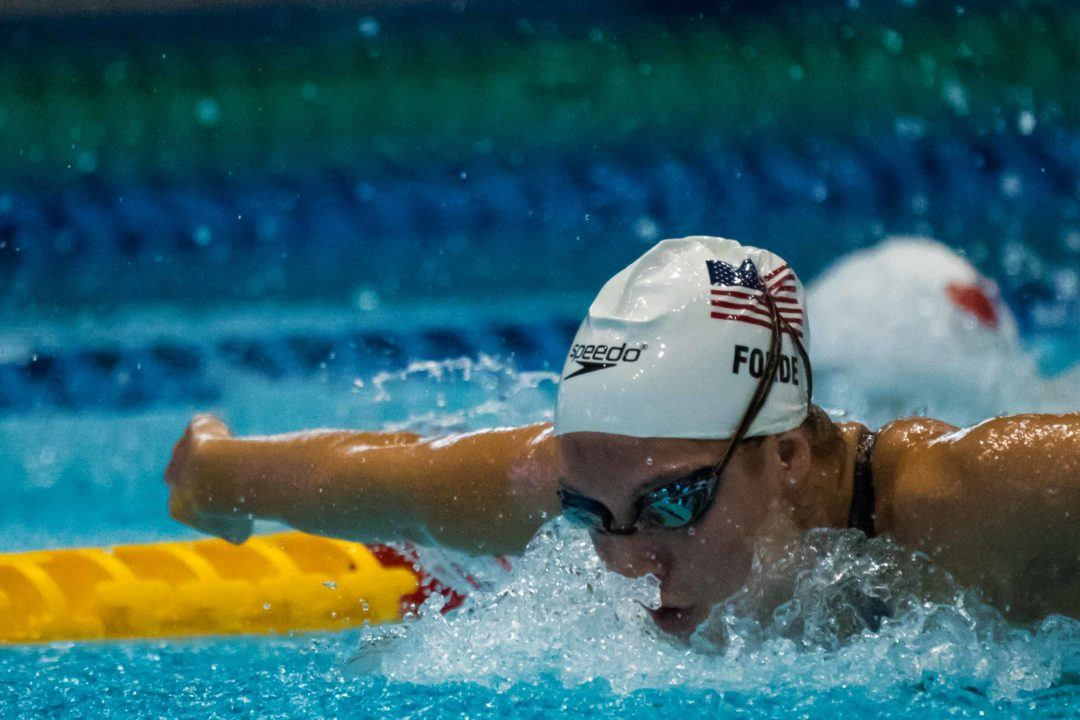 Brooke Forde Swaps 200 Breast for 200 Fly in NCAA Entries