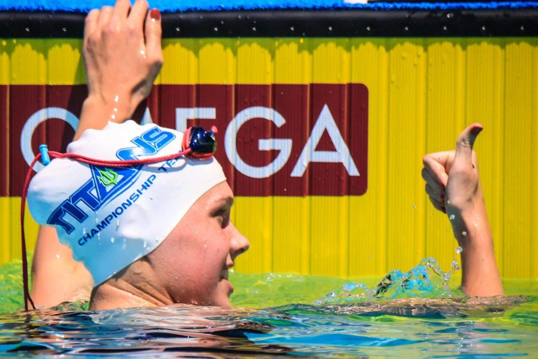 TAC's Claire Curzan Unleashes 49.51 SCY 100 Fly to Shatter Own 15-16 NAG