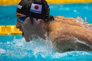 Six Men Hit 1:56.3 Or Faster In 200 Fly Semi-Final At Japanese OLY Trials
