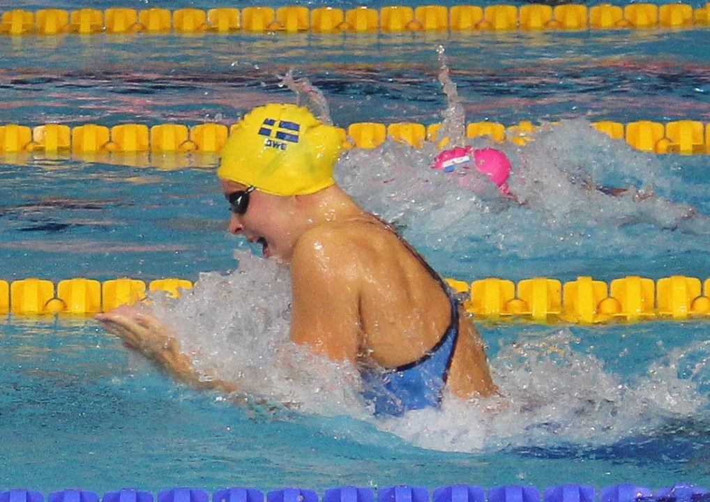 Sophie Hansson Breaks 100 Breast ACC Record With 57.74