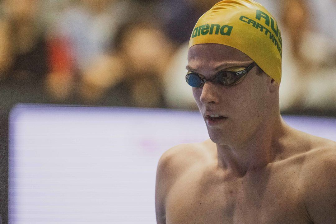 Sprinter Jack Cartwright Enters Only 1500 Free at Australian Swimming Trials