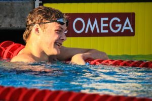 Freshman Jake Magahey Breaks Down Historic 4:06.7 500 Duel & 200 Free SEC Title