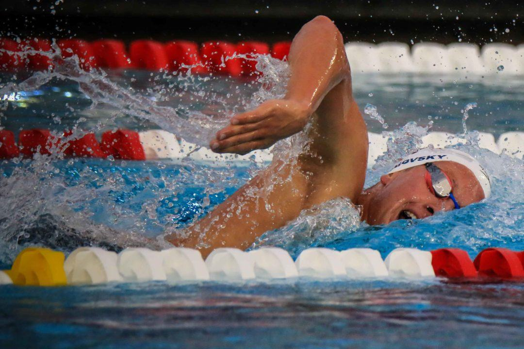 WATCH: Katie Ledecky, Jordan Wilimovsky Dominate 800s in Greensboro