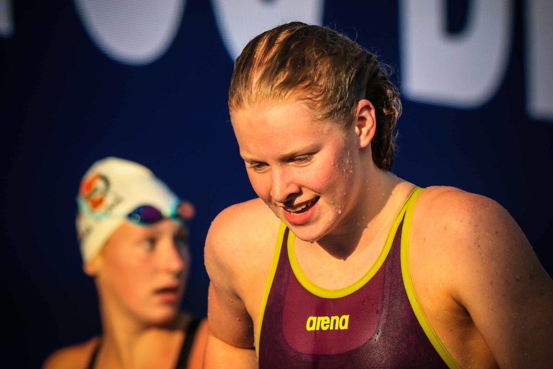 Kaitlyn Dobler Clips National High School Record in 100 Breast with 58.35