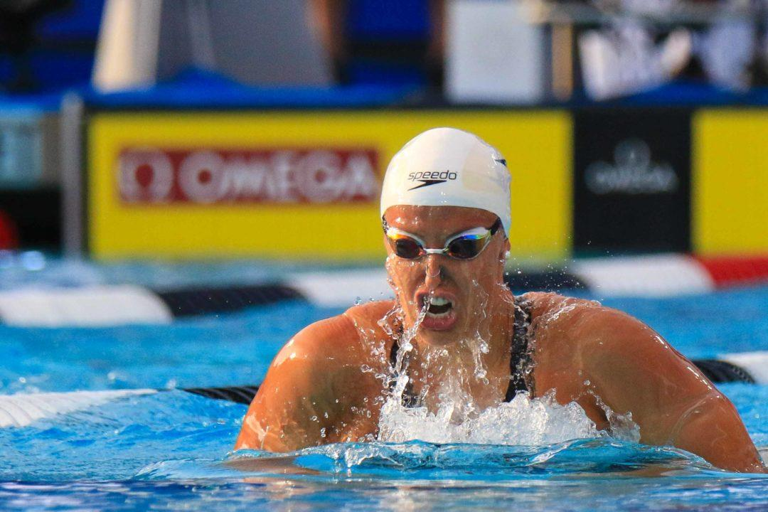 WATCH: Baker Upsets Hosszu with 2:08 200 IM in France