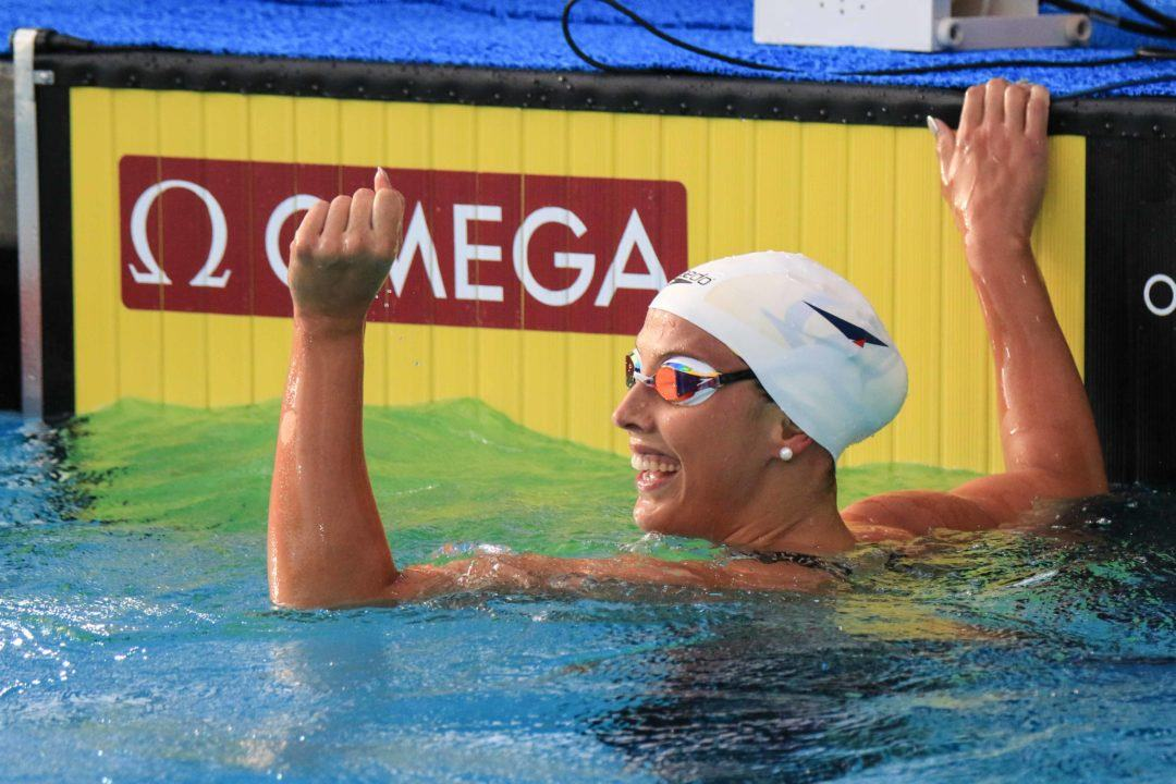 Kathleen Baker Sees 200 IM work in Practice Pay Off with #2 Worldwide 200 Back
