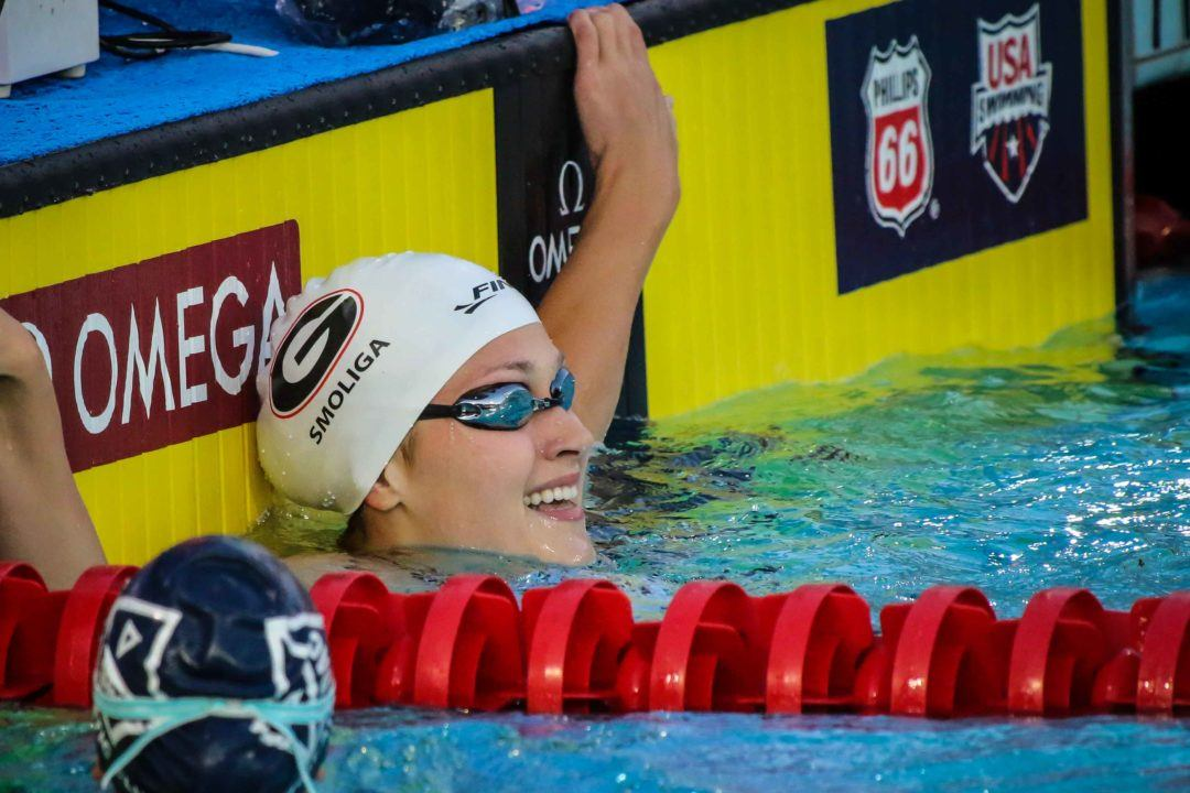 Smoliga Leads Off Mixed Medley Faster Than Her 50 Back American Record