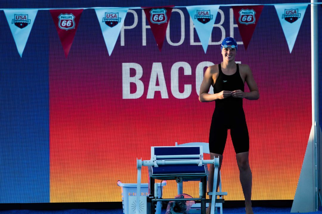 WATCH: Phoebe Bacon Breaks National High School Record with 50.8 100 Back