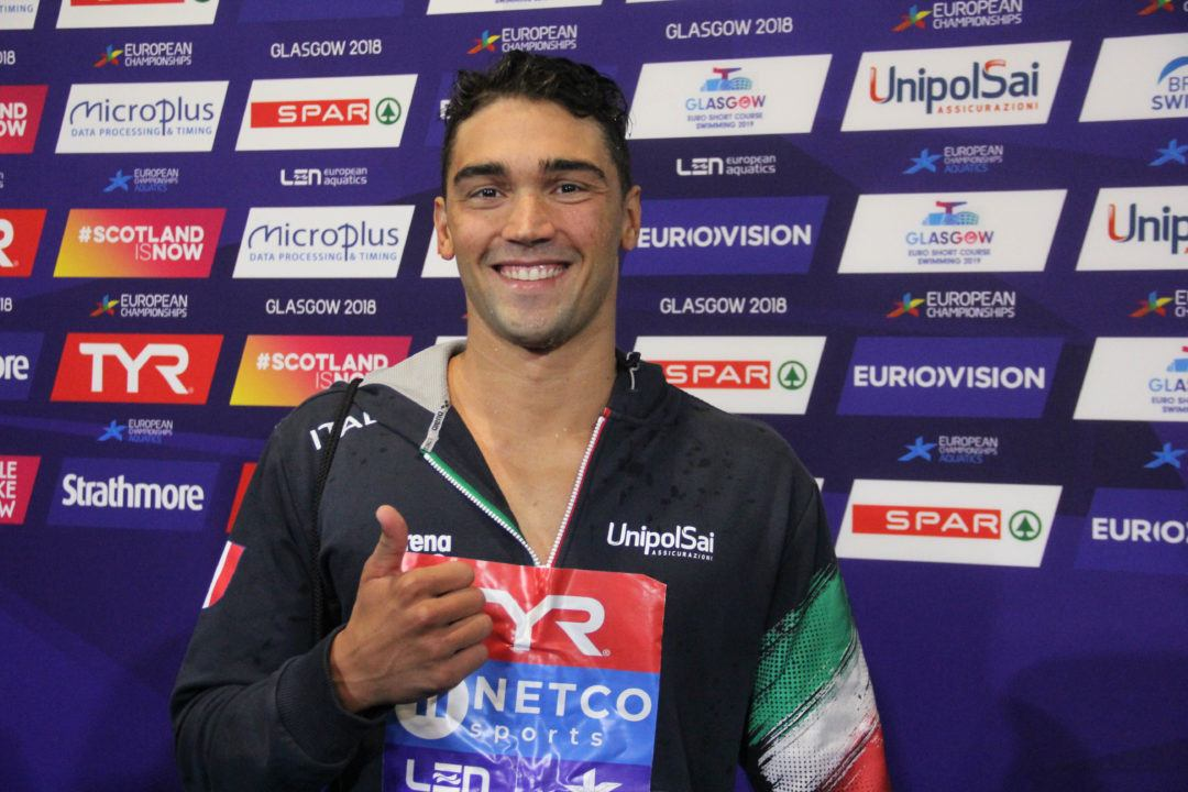 Europei Glasgow: Luca Pizzini Bronzo Nei 200 Metri Rana