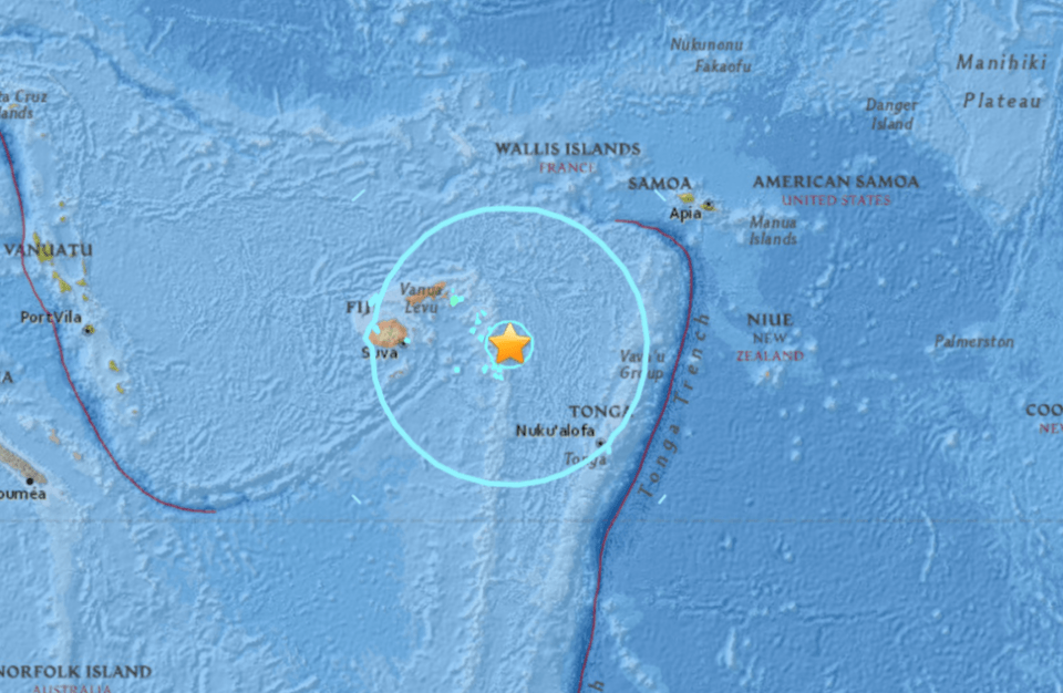 No Danger Expected from Magnitude 8.2 Earthquake Near Fiji