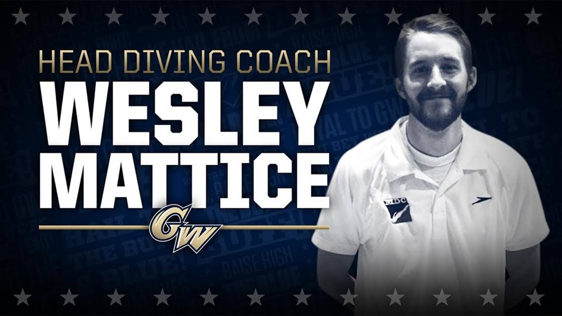 George Washington Tabs Wesley Mattice as Head Diving Coach