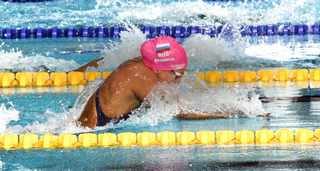 Yuliya Efimova Scratches Out Of 200 IM Semis At Euros