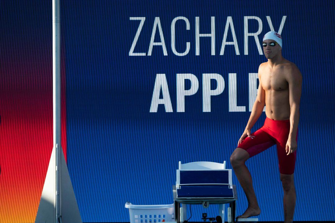 Zach Apple Scorches 46.8 Split as USA Swims Fastest Textile 400 FR Relay Ever