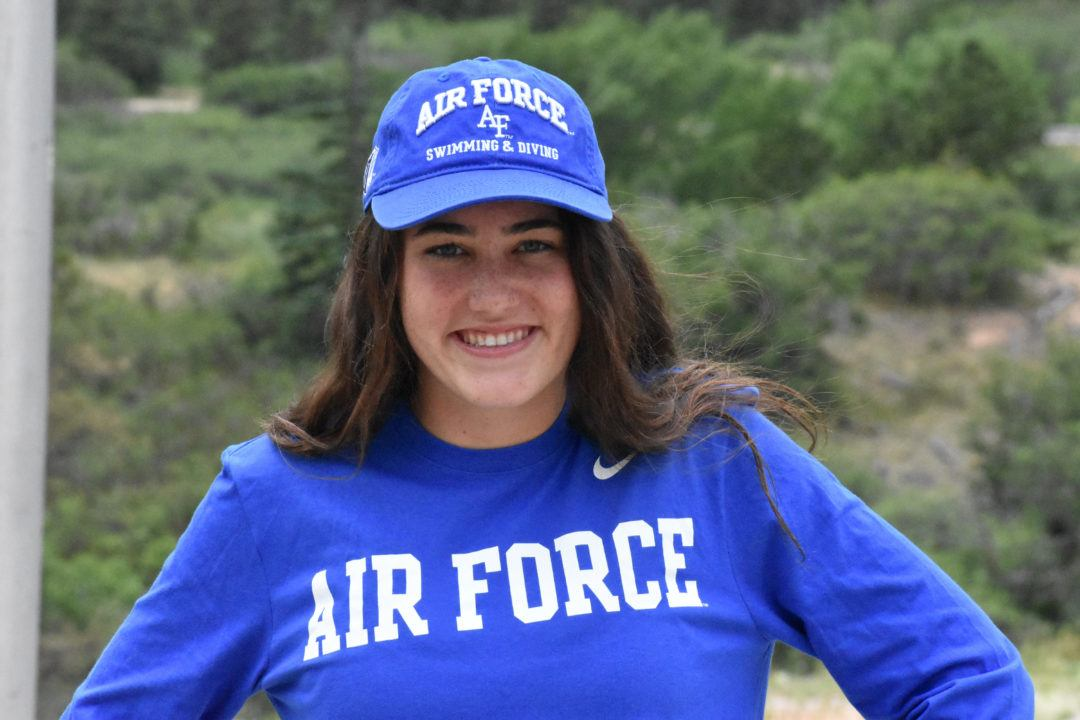 CA Breaststroker Kimmy Woolfenden Gives Verbal to Air Force