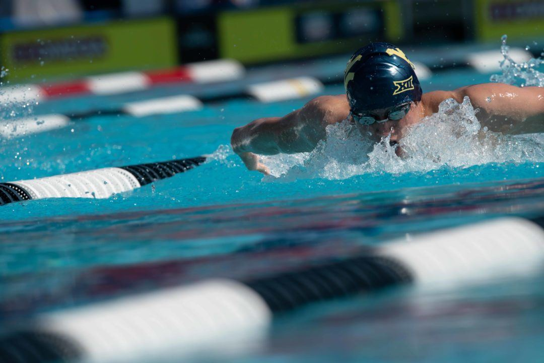 David Dixon Breaks 200 Fly Pool Record as West Virginia Downs SMU in Dallas