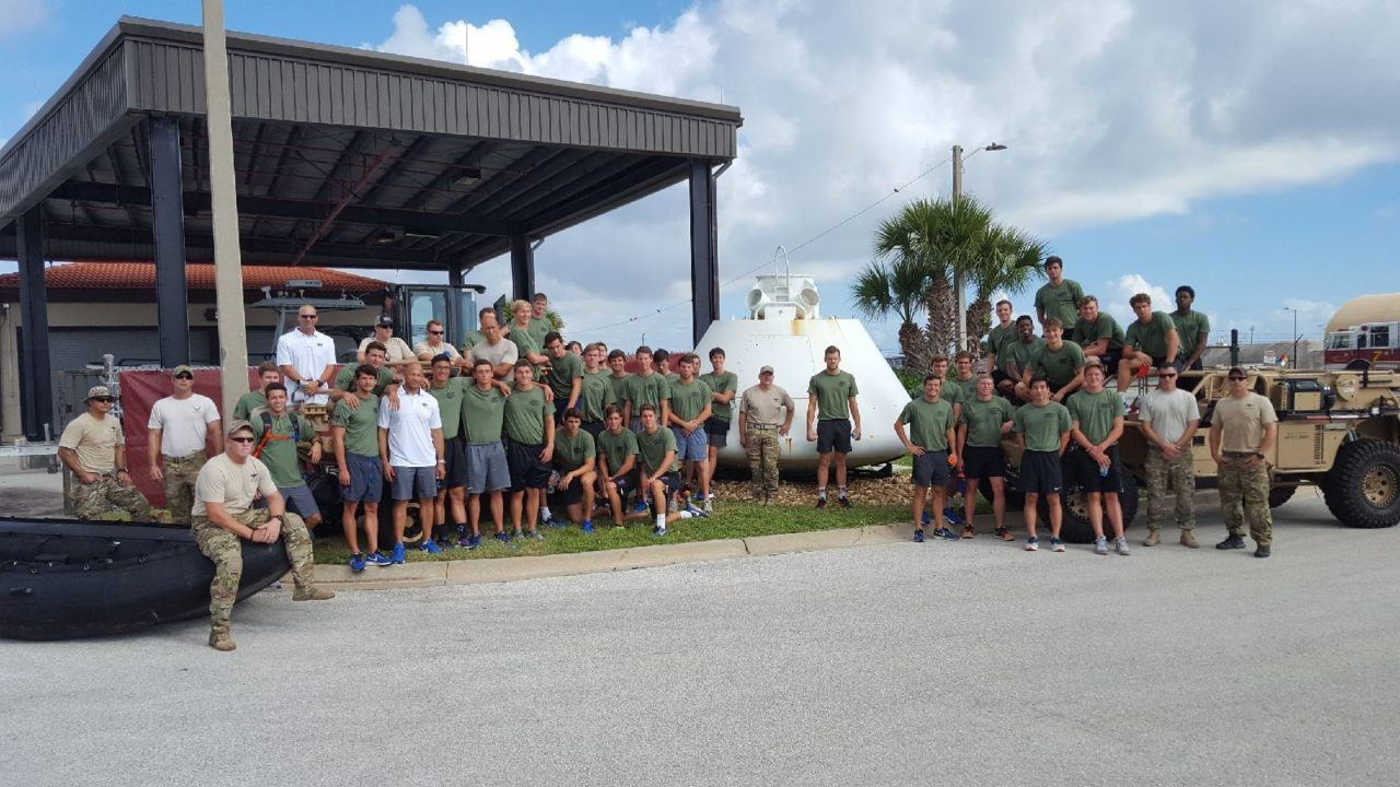 Florida Men Learn Teamwork and Leadership Skills from Air Force Pararescuemen