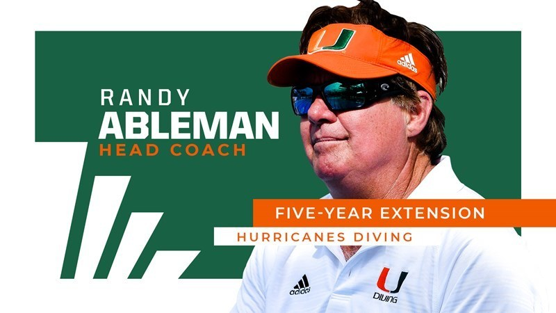 Miami (FL) Gives Diving Coach Randy Ableman 5-Year Extension