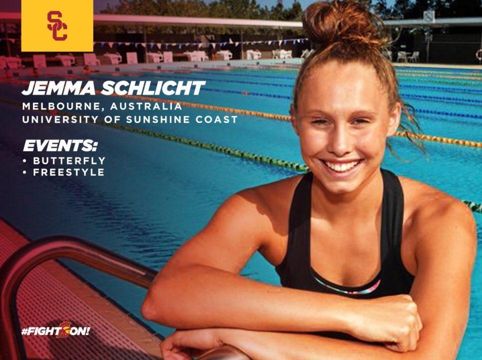 Australia's Jemma Schlicht Transferring from USC Spartans to USC Trojans