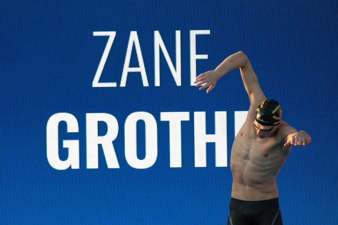 Zane Grothe Scratches 100 Free Final After 49.8 Prelim In Des Moines