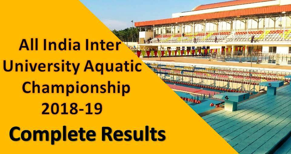 All India Inter University Championship 2018 – Complete Results