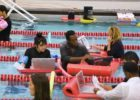 With Water Cooler & Floating Desks, Check Out The Pool Office (Video)