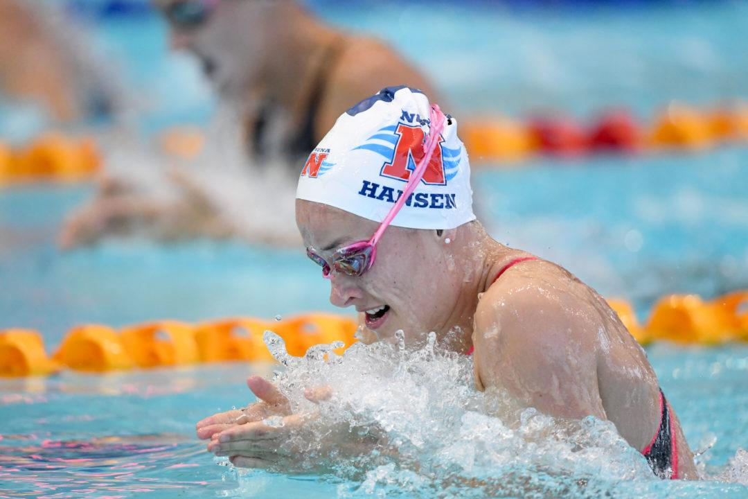Hansen Completes Breaststroke Trifecta At 2019 Vic Open
