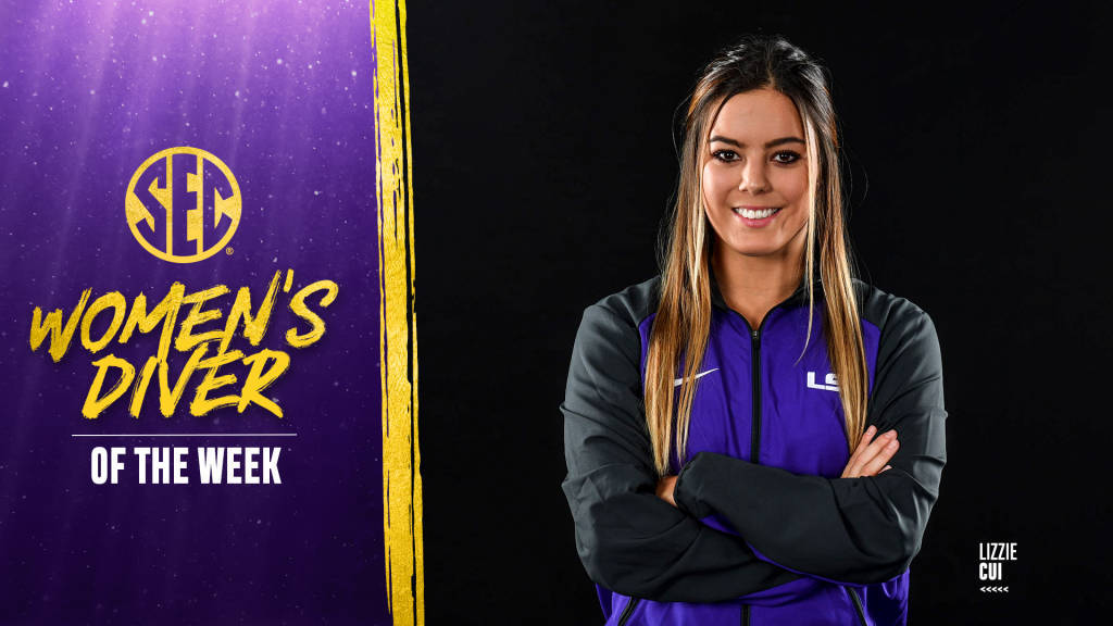 LSU's Cui Named SEC Diver of the Week