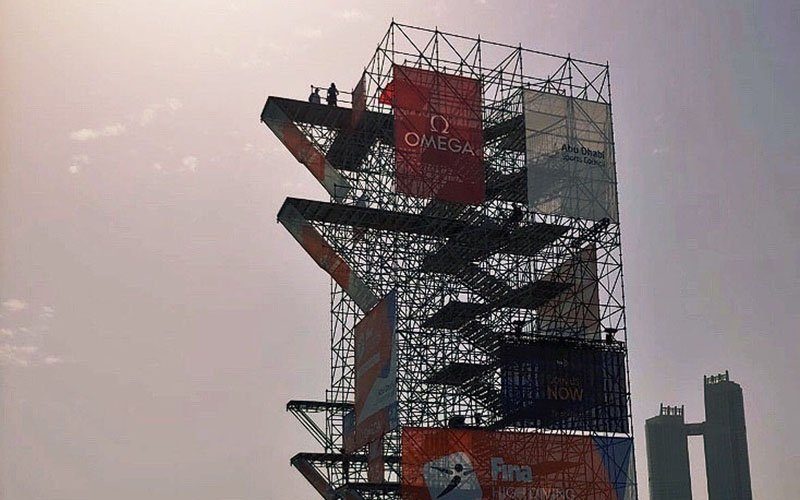 FINA High Diving World Cup Opens in Abu Dhabi