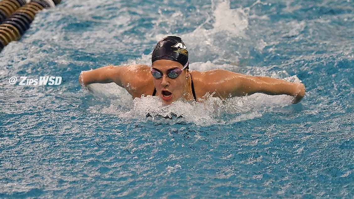 Akron Takes All But One Swimming Event Against Ball State