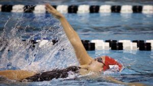WATCH: Wisconsin Breaks In New Aquatics Facility