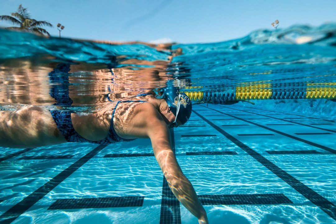 FIU Freshman Jasmine Nocentini Swims 22.23 50 FR on Day 2 of C-USA Championship