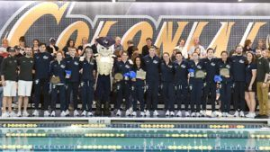 GWU Men Open Big Lead at A-10s, Osina Breaks Conference 200 IM Record