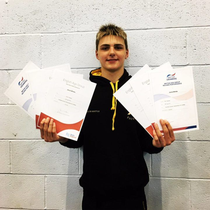 Jacob Whittle Swims 3 British All-Time Bests for 14-Year Olds