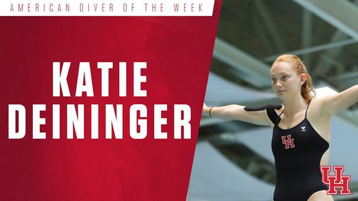 Houston's Deininger Named AAC Diver of the Week