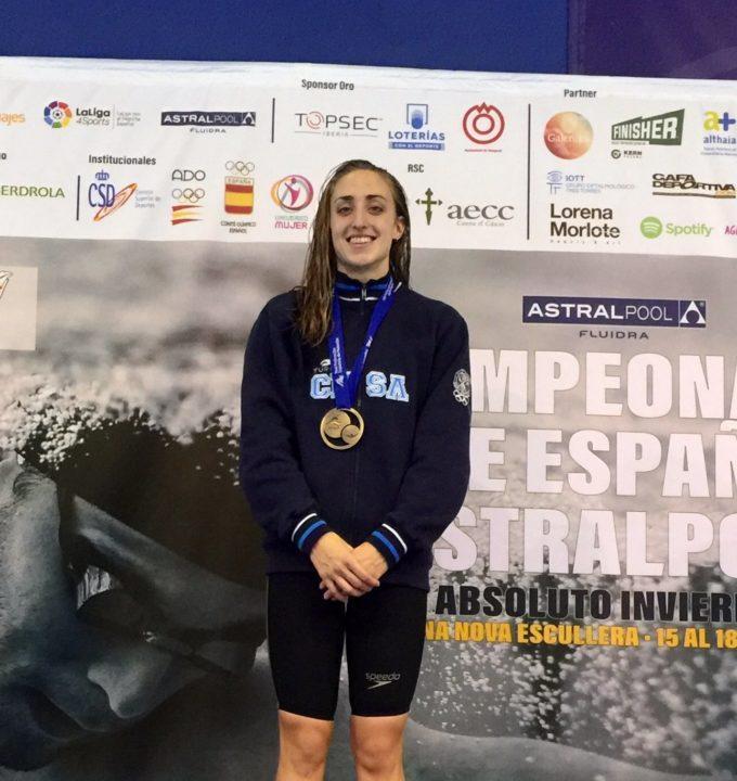 Lidon Munoz Breaks Spanish Championship Record in 100 Free
