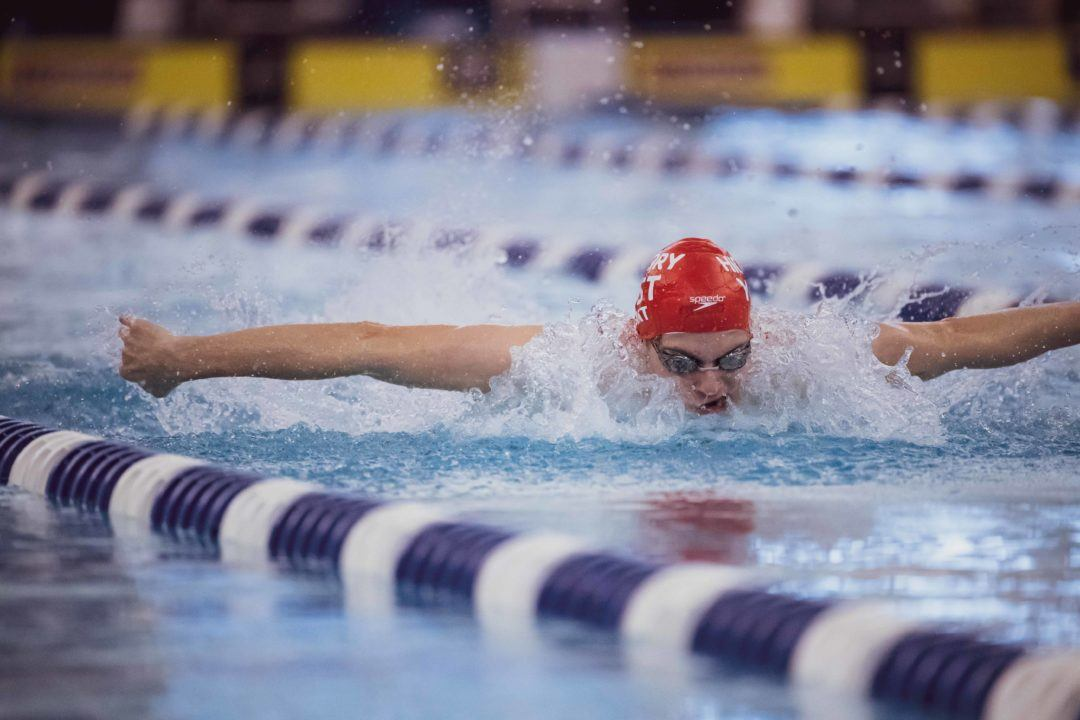 Ross Dant Clips 400 IM Meet Record during YNats Prelims