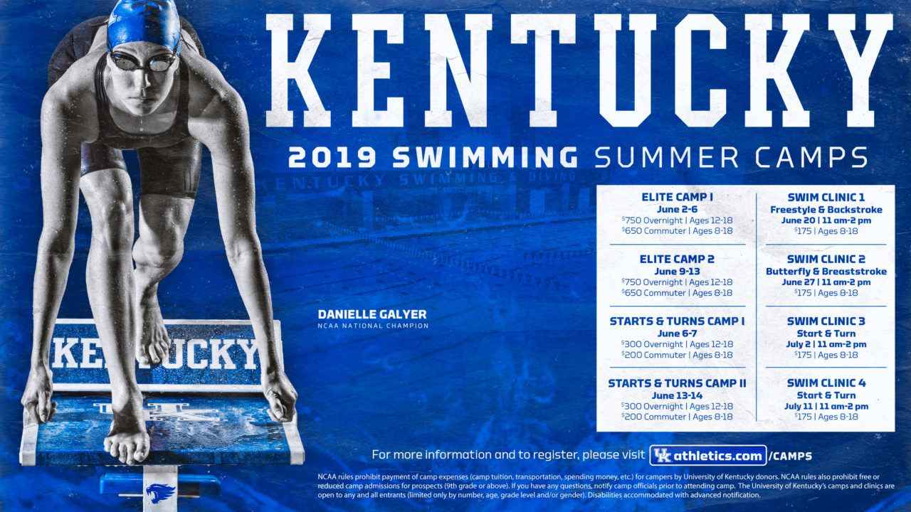 2019 Kentucky Swimming Camps – Sign Up Today