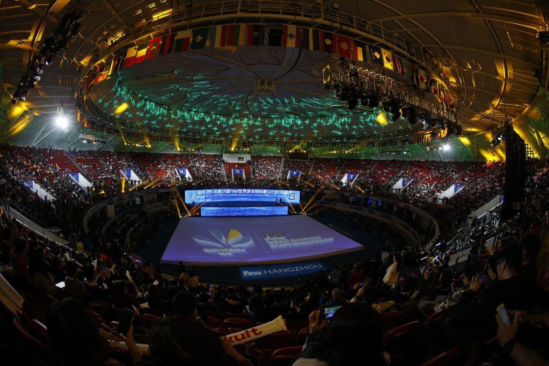 Hangzhou: Une Wang couverte d'or devant son public
