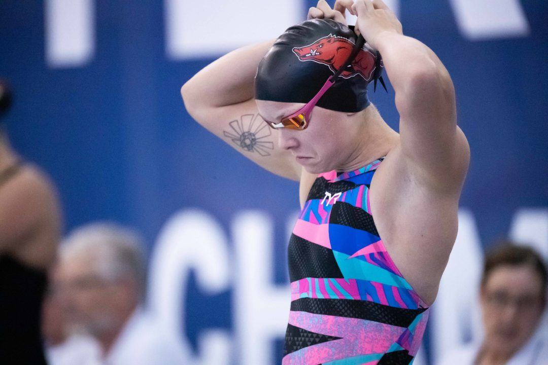 Arkansas' British Breakout Star Anna Hopkin Fueled by Team Experience in NCAA
